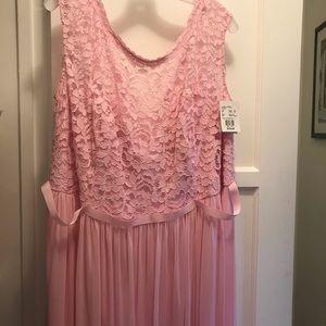 David's Bridal Tickled pink bridesmaid dress